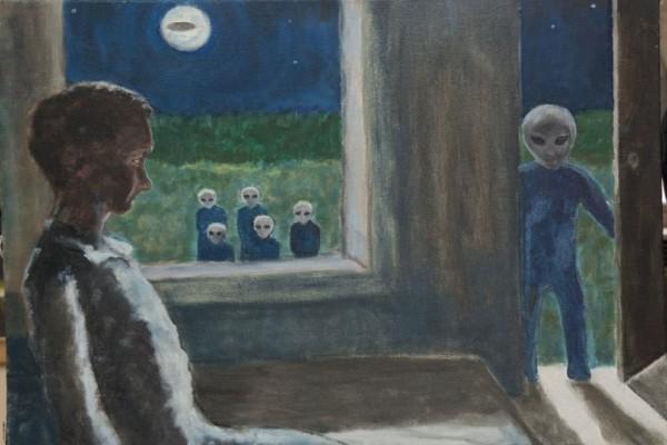 David Huggins: Ο ζωγράφος που ισχυρίζεται ότι έχασε την παρθενιά του από... εξωγήινη! (photos+video)