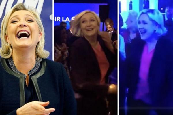 Δεν έχασε το κέφι της! Ο τρελός χορός της Λεπέν μετά τη μεγάλη της ήττα που τρέλανε το διαδίκτυο (videos)