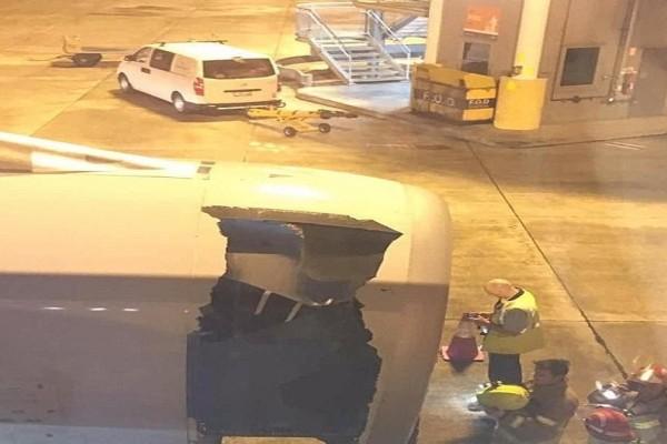Θρίλερ στον αέρα: Άνοιξε τρύπα στον κινητήρα ενός αεροπλάνου εν ώρα πτήσης! (Video & Photo)