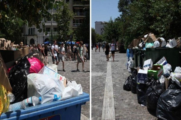 Ντροπή! Ακόμα και οι αρχαιολογικοί χώροι της Αθήνας «πλημμυρισμένοι» από σκουπίδια (Photos)