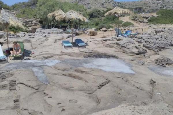 Τραγικό: Τσιμέντωσαν γνωστή παραλία της Ρόδου! Εικόνες ντροπής...