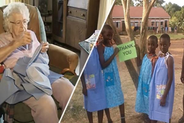 Αυτή η 99χρονη ράβει κάθε μέρα ένα φόρεμα για κάποιο φτωχό κορίτσι στην Αφρική!
