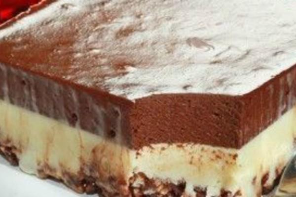 Γλύκισμα ψυγείου με διπλή δόση σοκολάτας