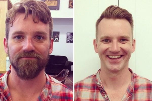 Λες και είναι άλλοι άνθρωποι! 40 φωτογραφίες ανδρών πριν και μετά το ξύρισμα!