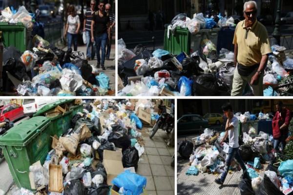 Τραγικές καταστάσεις: Γέμισε με σκουπίδια ολόκληρη η Αθήνα! (photos)