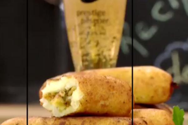Καταπληκτικές πατατοκροκέτες με κιμά κοτόπουλου! (video)