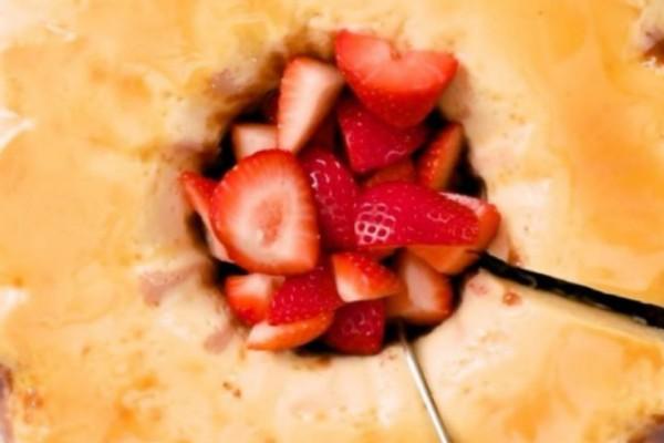 Σοκολατένιο κέικ με φράουλες! Λαχταριστή συνταγή!