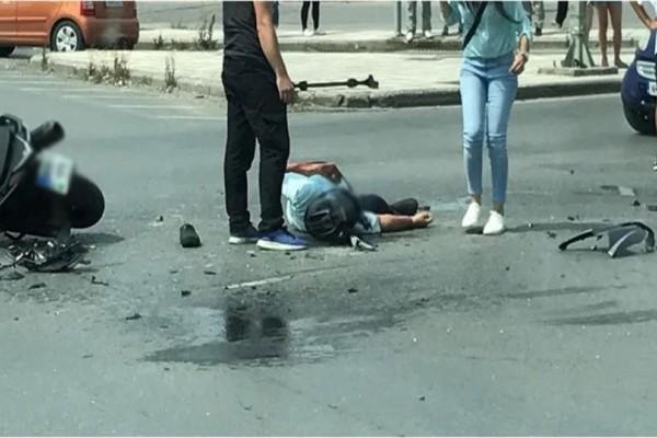 Τρόμος στην άσφαλτο: Σοβαρό τροχαίο στη Θεσσαλονίκη! (Photos)