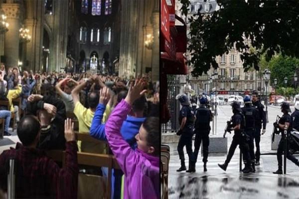 Επίθεση στην Παναγία των Παρισίων: Κλείστηκαν στον Ναό 900 άτομα με τα χέρια ψηλά! (Photos)