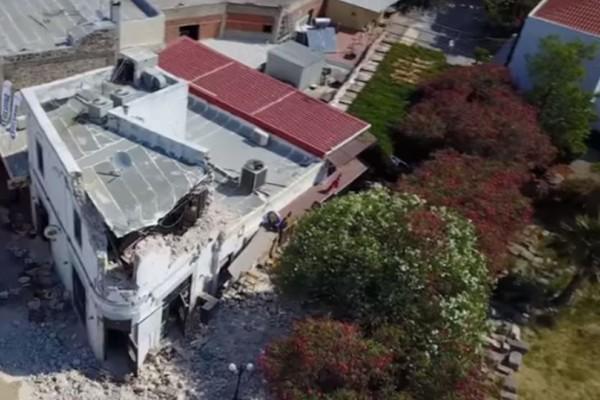 Βίντεο: Οι καταστροφές από τον φονικό σεισμό στη Κω μέσα drone!