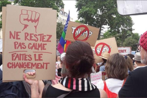 Γαλλία: Μεγάλη διαδήλωση κατά Μακρόν & Τράμπ (Video)