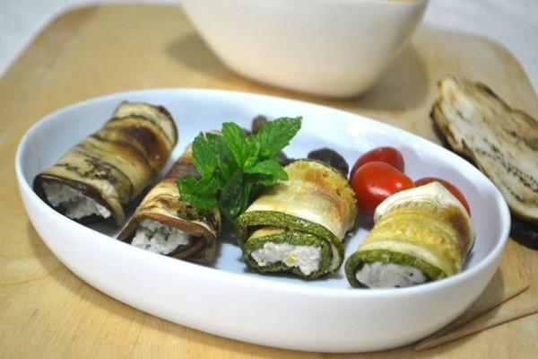 Η νόστιμη συνταγή της ημέρας: Ρολάκια από ψητά κολοκυθάκια γεμιστά με τυροσαλάτα!