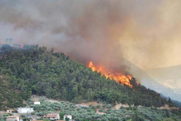 Ισχυρή πυρκαγιά ξέσπασε πριν από λίγο στην χώρα! - Μεγάλη μάχη με τις φλόγες