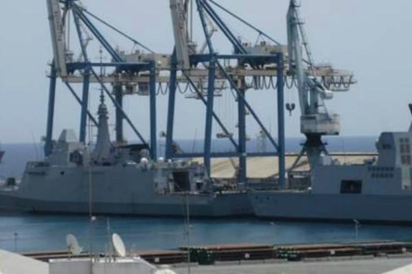 Κύπρος: Κατέφθασε το γεωτρύπανο για την ΑΟΖ - Γέμισε γαλλικές φρεγάτες το λιμάνι της Λάρνακας (photo)