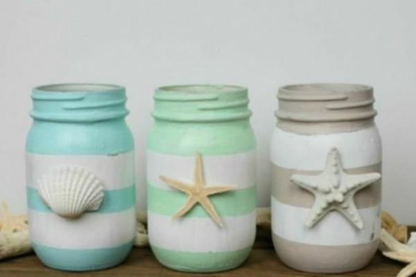5 καλοκαιρινές ιδέες για να διακοσμήσετε το σπίτι σας με βαζάκια μαρμελάδας!