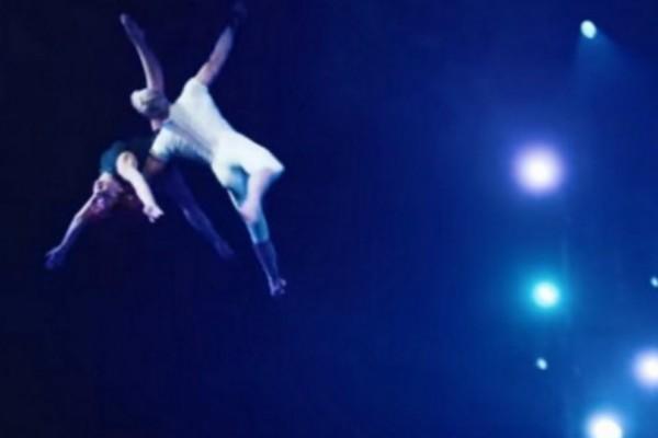 Σοκαριστικό ατύχημα ακροβάτη - Έπεσε από τα 4 μέτρα - Σοκ στους θεατές (video)