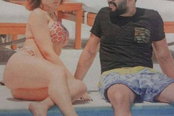 Ασυγκράτητο το γνωστό ζευγάρι της ελληνικής showbiz! «Καυτά» φιλιά και αγκαλιές στην πισίνα