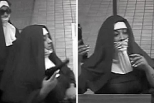 Απίστευτο περιστατικό στις ΗΠΑ: Ντύθηκαν καλόγριες και λήστεψαν τράπεζα! (Video)