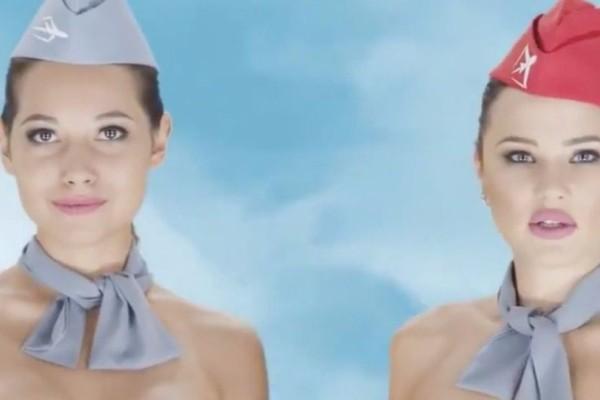 Σάλος με τις γυμνές αεροσυνοδούς σε διαφημιστικό ποστ!