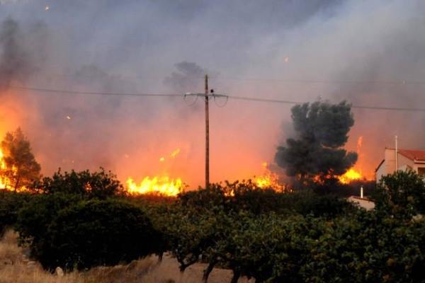 Κέρκυρα: Μεγάλη πυρκαγιά σε εξέλιξη στο θέρετρο Δαφνίλας!