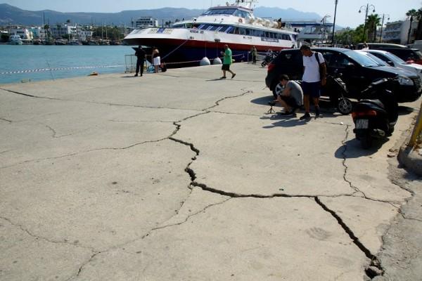 Κως: Ξεκίνησαν τα έργα αποκατάστασης των ζημιών από τον σεισμό στο λιμάνι