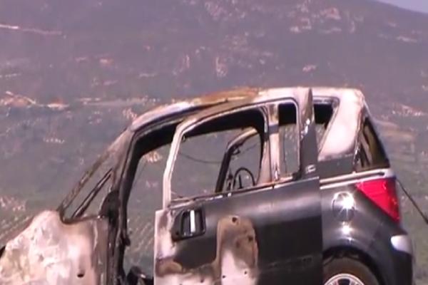 Αυτοκίνητο πήρε φωτιά εν κινήσει στην εθνική οδό Κορίνθου - Τριπόλεως (video)