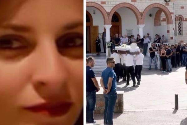 Ράγισαν καρδιές στην κηδεία της 33χρονης μητέρας που πέθανε έξω από το σχολείο των παιδιών της! (photos)