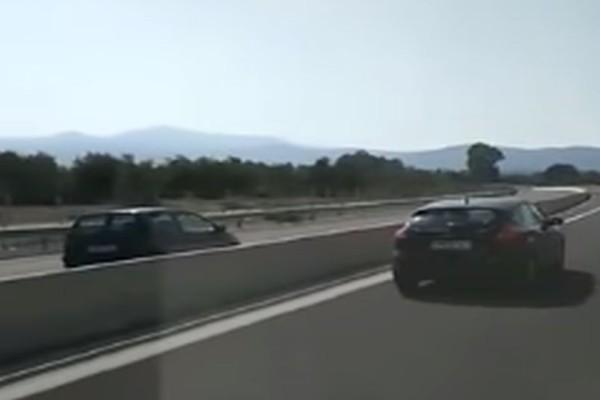 Οδηγός - τρόμος μπήκε ανάποδα στην Εθνική Οδό Καλαμάτας - Κορίνθου! (video)