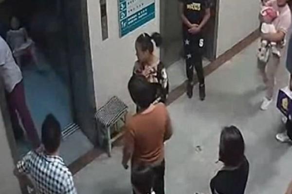 Απίστευτο βίντεο: Γυναίκα γέννησε μέσα στο ασανσέρ του μαιευτηρίου!
