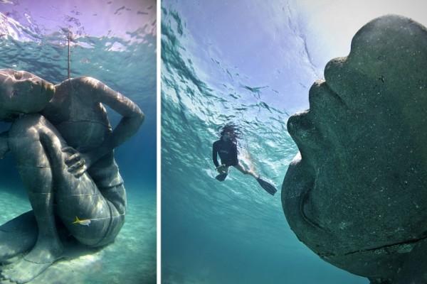 Αυτό είναι το μεγαλύτερο υποβρύχιο γλυπτό στον κόσμο και το όνομά του είναι ελληνικό! (video)