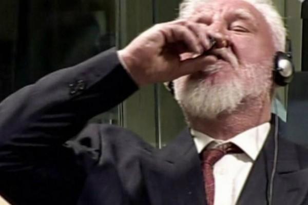 Πώς βρέθηκε το κώνειο στα χέρια του Κροάτη που αυτοκτόνησε στο δικαστήριο της Χάγης;