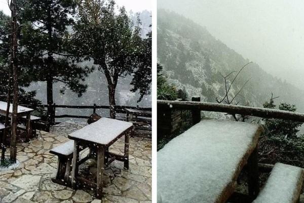 Ο χειμώνας έφτασε στην Αττική: Μαγευτικό βίντεο από την χιονοθύελλα στην Πάρνηθα!