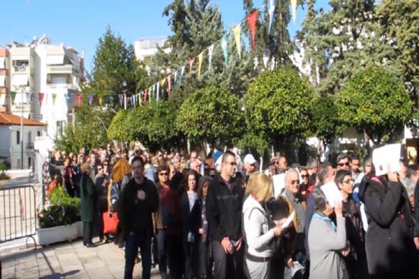 Νέα Ιωνία: Χιλιάδες πιστοί συρρέουν καθημερινά για να προσκυνήσουν την Αγία Ζώνη! (Video)
