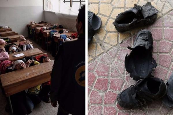 Γροθιά στο στομάχι: Η σκληρή πραγματικότητα των μαθητών στην εμπόλεμη ζώνη! (photos)