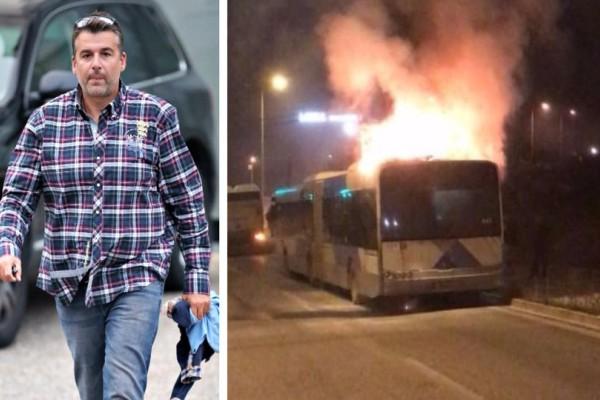 Βίντεο - σοκ από τον Γιώργο Λιάγκα: Λεωφορείο του ΟΑΣΑ τυλίχτηκε στις φλόγες στην Βάρης - Κορωπίου! (video)