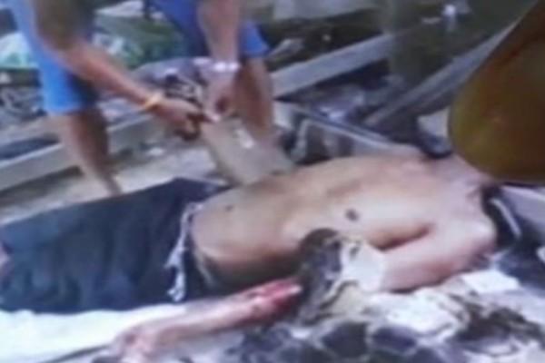 Φρικτός θάνατος: Πεινασμένος πύθωνας σκότωσε 55χρονο! (video)