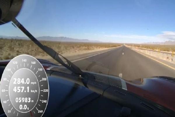 Απίστευτο βίντεο: Το αυτοκίνητο που έσπασε το παγκόσμιο ρεκόρ! - Έπιασε τα 457,05 χλμ. την ώρα!