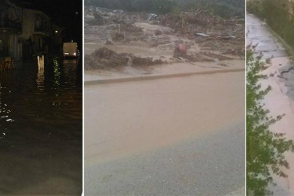 Κομμένη στα δύο η Αιτωλοακαρνανία: Σοβαρά προβλήματα και πλημμύρες από την κακοκαιρία (Photos)