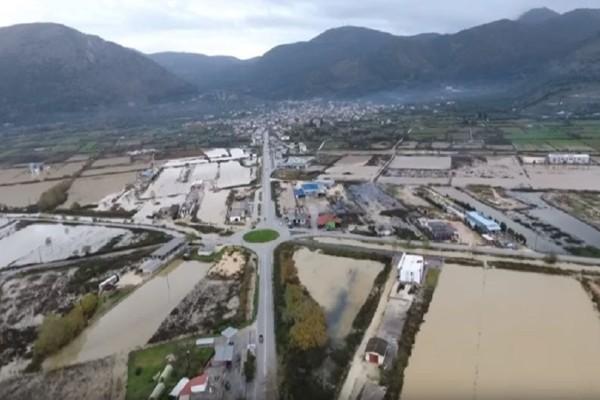 Εικόνες καταστροφής από drone! - Τα έντονα καιρικά φαινόμενα προκάλεσαν την υπερχείλιση του Αχέροντα! (Video)