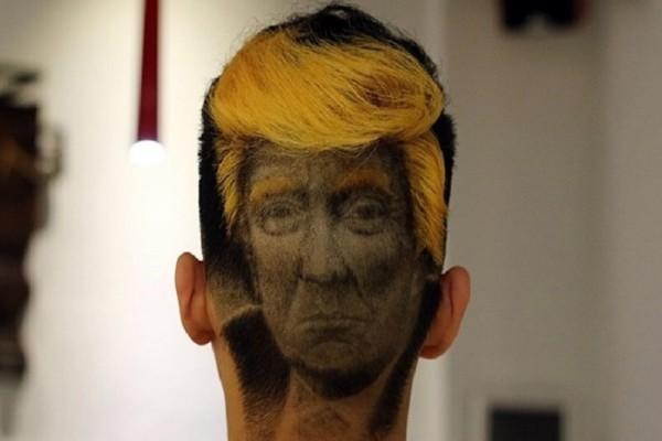Αυτό είναι το πιο ανατρεπτικό κούρεμα! - Σχεδίασε τον Τραμπ στο κεφάλι του! (Photo & Video)