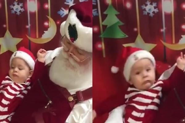 Επικό βίντεο: Τι συμβαίνει όταν ο Άγιος Βασίλης ροχαλίζει;