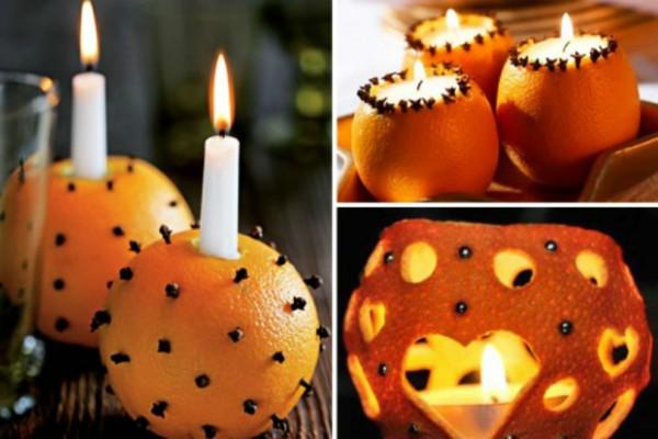Θα τα λατρέψετε: Φτιάξε πανεύκολα αρωματικό κερί χώρου από μισό πορτοκάλι!