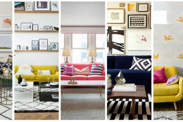 Οι καναπέδες με χρώμα είναι η ωραία νότα στο σαλόνι σου!