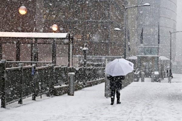 Ο χιονιάς χτύπησε τις Βρυξέλλες! - Εντυπωσιακές εικόνες από τα «πασπαλισμένα» κτίρια! (Photo)