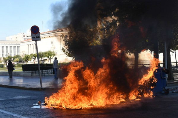 Επεισοδιακή πορεία στο κέντρο της Αθήνας για τον Αλέξη Γρηγορόπουλο!