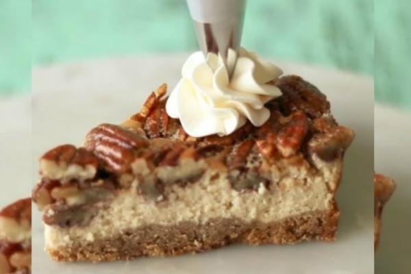 Φτιάξε φανταστική καρυδόπιτα Cheesecake (video)