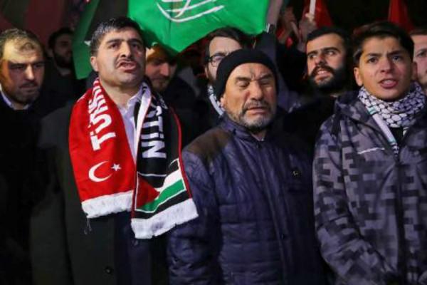 Διαδήλωση και στην Κωνσταντινούπολη ενάντια στην απόφαση Τραμπ!