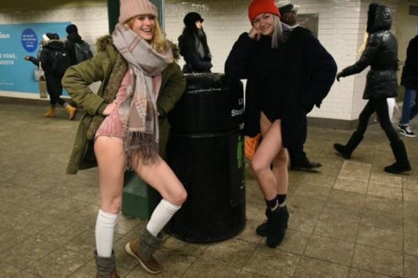 Παγκόσμια ημέρα χωρίς... παντελόνι! Στο μετρό άντρες και γυναίκες μόνο με τα εσώρουχα τους! (Photos+video)