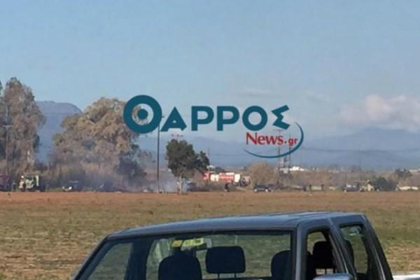 Πτώση αεροσκάφους στην Καλαμάτα: Οι πρώτες εικόνες από το σημείο της πτώσης!