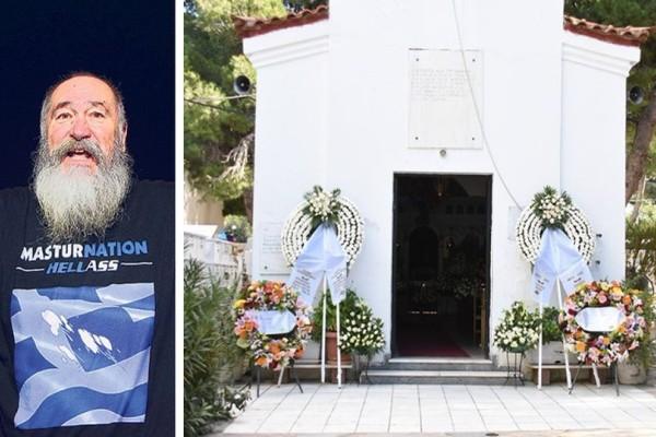 Σπαραγμός και οδύνη στην κηδεία του Τζίμη Πανούση! Ποιοι επώνυμοι δίνουν το παρόν! (photos)